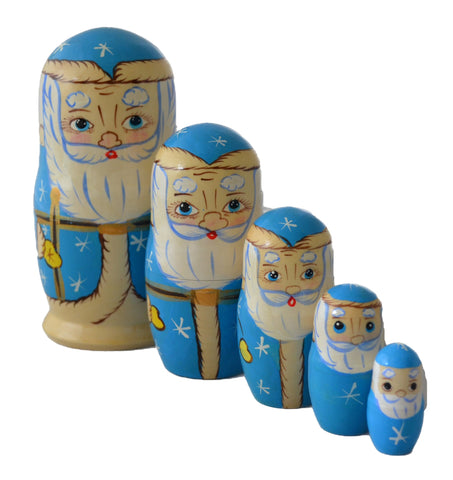 5 Piece Santa Matryoshka Doll
