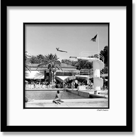 La Vigie Club, Monaco - Framed B&W photograph