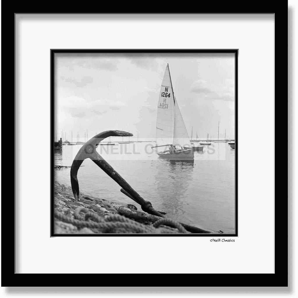 Burnham Yachting Week - Framed B&W photograph