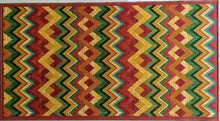 Load image into Gallery viewer, Colourful Zigzag Design Rugs / Runners - 100% Polyester Rug with Anti-slip Latex back