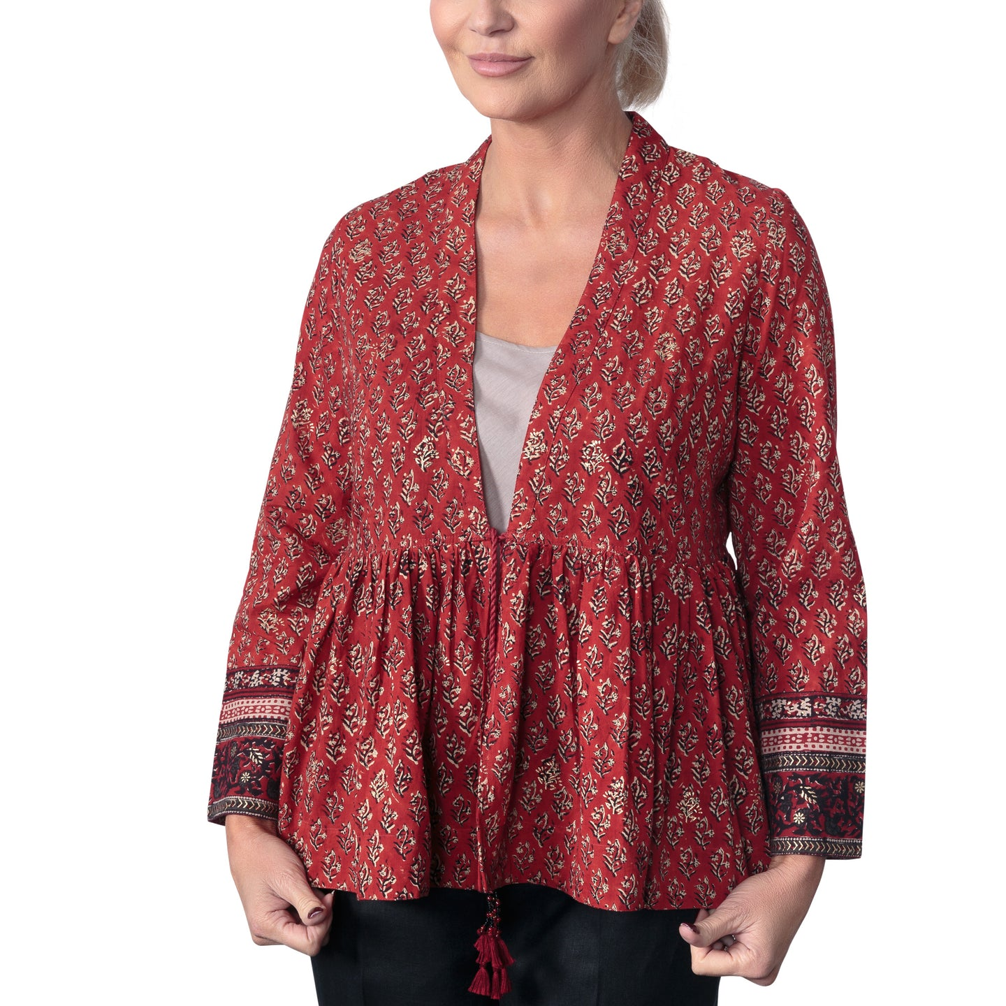 Anokhi Bagru Cotton Booti Print Jacket