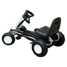 Load image into Gallery viewer, HOMCOM Pedal Go Kart Toy for Kids with Rubber Wheels Outdoor Race