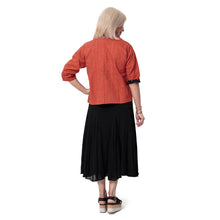Load image into Gallery viewer, East Cheesecloth Cotton Crinkle Skirt with Elasticated Waist