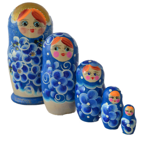 5 Piece Large Matryoshka Dolls