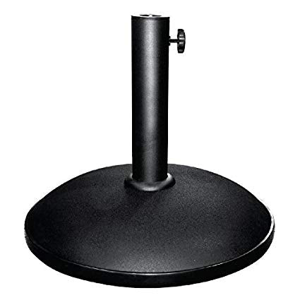 sun parasol base concrete with steel pole 12kg for 38-48mm pole