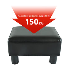 Load image into Gallery viewer, HOMCOM PU Leather Ottoman Footrest-Black