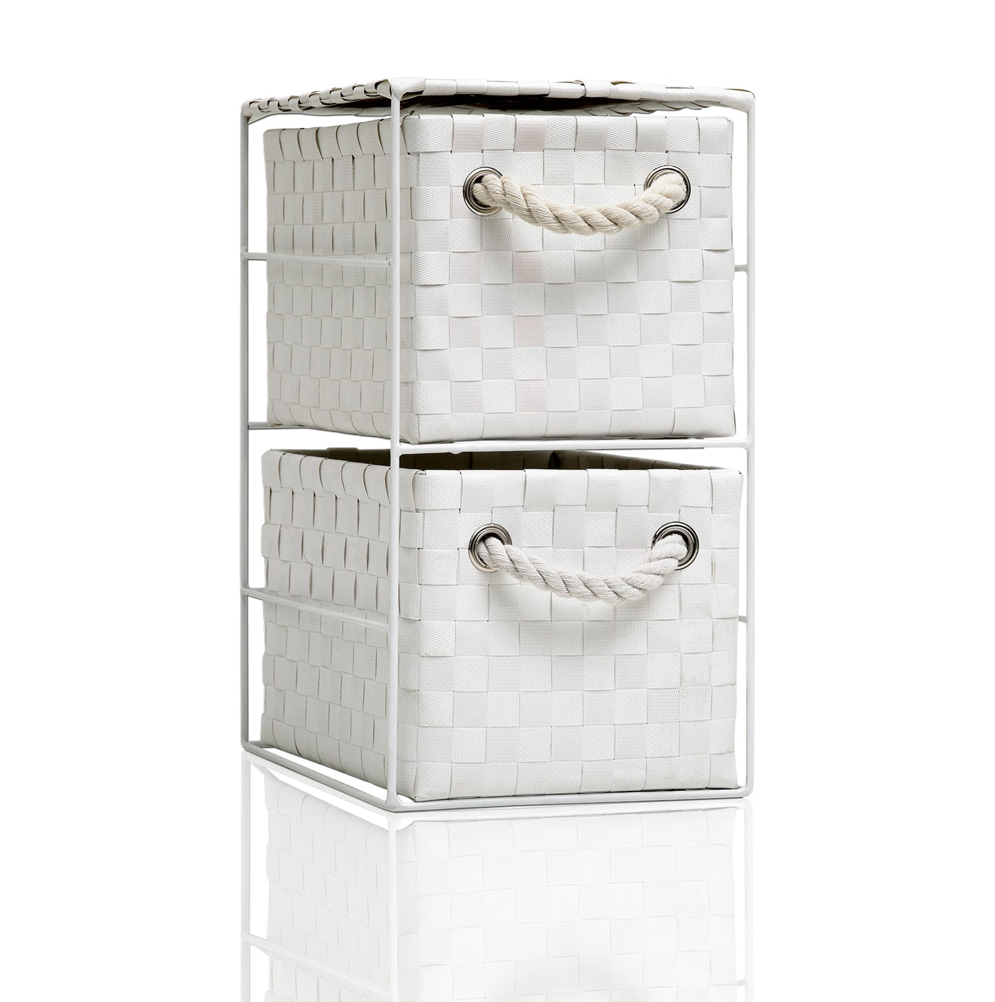 Arpan 2 Drawer Storage Cabinet Unit Ideal for Home/Office/bedrooms (2 Drawer Unit -18x25x33cm)