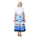 East Santorini Print Cotton Skirt