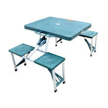 Load image into Gallery viewer, Outsunny Foldable Picnic Table Set - Green