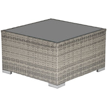 Load image into Gallery viewer, Outsunny Rattan Wicker Patio Coffee Table Ready to Use Outdoor Furniture Suitable for Garden Backyard Grey