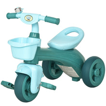 Load image into Gallery viewer, HOMCOM 3 Wheel Tricycle Kids Trike Ride-on Toy with Front Back Basket Bell for Toddlers Boys and Girls Age 3 to 6 Years Old Green
