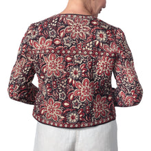 Load image into Gallery viewer, Anokhi Bagru Cotton Floral Print Quilted Jacket