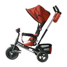 Load image into Gallery viewer, HOMCOM Baby Ride on Tricycle W/Canopy-Red