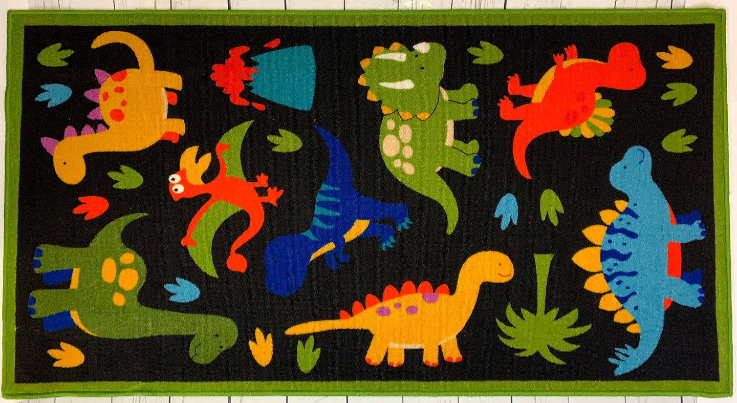 Dinosaur 2013 Polyester Area Rug Floor Carpet Anti Slip Playmat Soft Super absorbent Educational Nursery Rug 150 x 80 cms