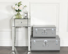 Load image into Gallery viewer, Monroe Silver Mirrored Bedside Table with 1 Drawer