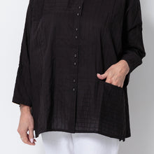 Load image into Gallery viewer, East Pintuck Oversize Pocket Shirt
