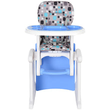 Load image into Gallery viewer, HOMCOM HDPE 3-in-1 Baby Booster High Chair Blue