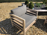 teak garden furniture sofa set with coffee table