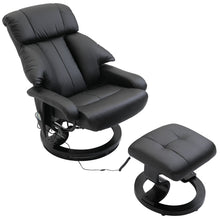 Load image into Gallery viewer, HOMCOM Recliner Massage Chair W/Foot Stool-Black