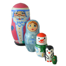 Load image into Gallery viewer, 5 Piece Christmas Charcter Matryoshka Doll