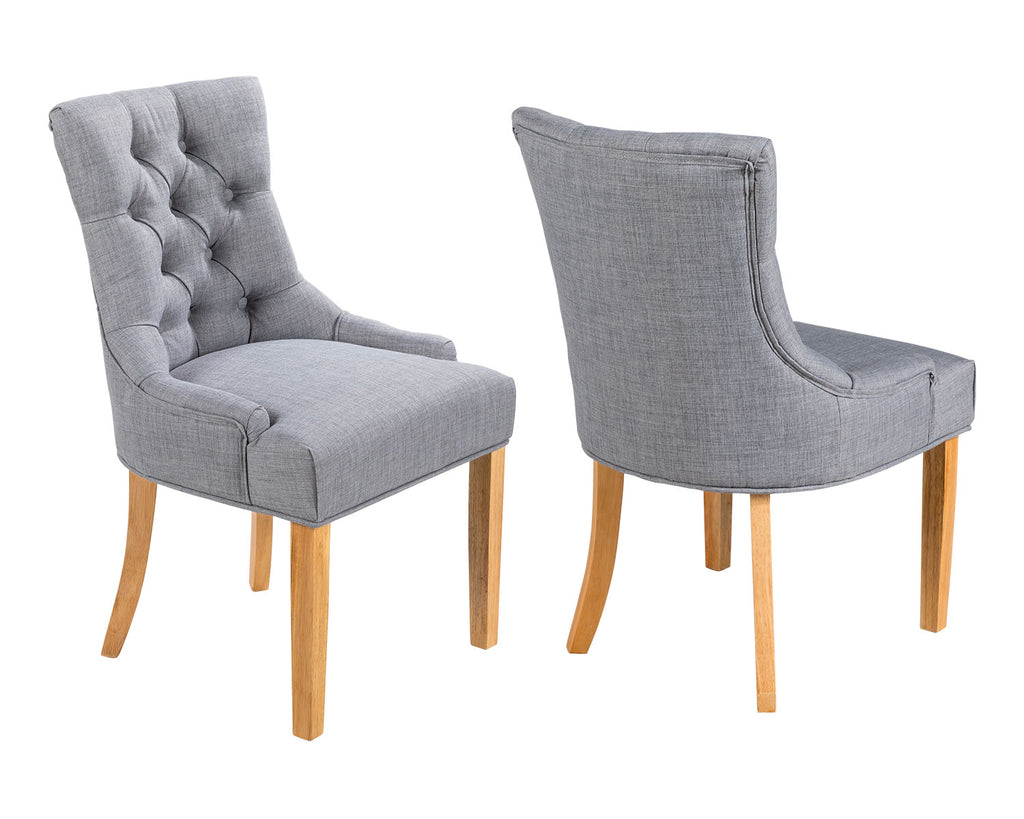 Chairs in Grey Linen