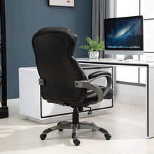 Load image into Gallery viewer, Vinsetto Home Office Chair Executive Height Adjustable Rolling Swivel Chair With Tilt Function PU Leather Black