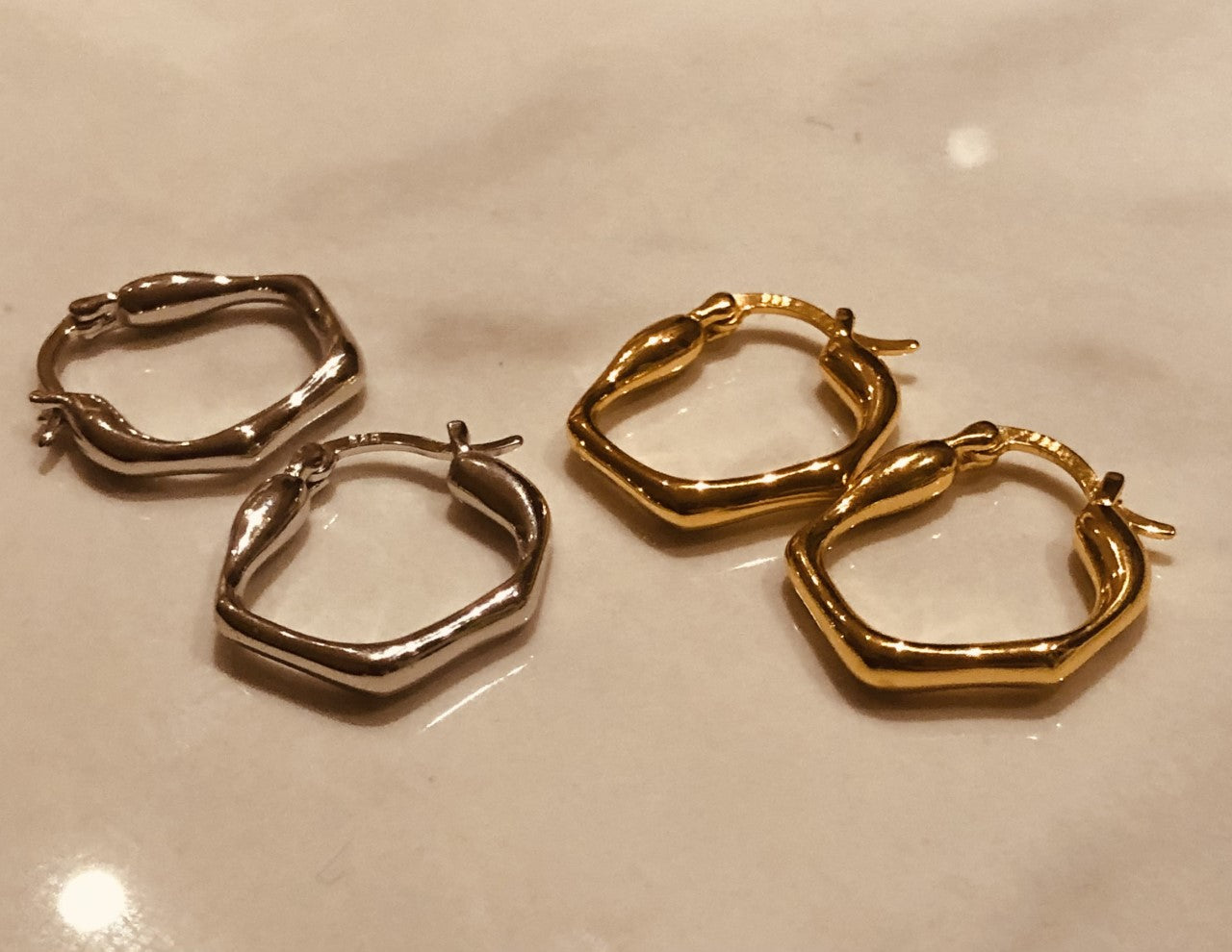 Gold Lexi Hoops