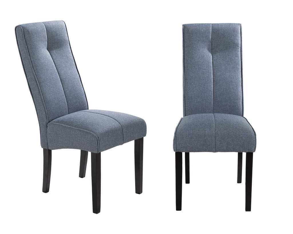 Pair of Vienna Dining Chairs in Grey Linen