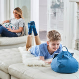iBeani iPad Cushion & Tablet Pillow Stand - Securely holds any size tablet, eReader or book upto 12.9 inches, hands free comfort at any angle on any surface - Blue