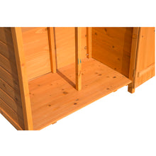 Load image into Gallery viewer, Outsunny 89W x 50D (cm) Wooden Garden Shed-Teak