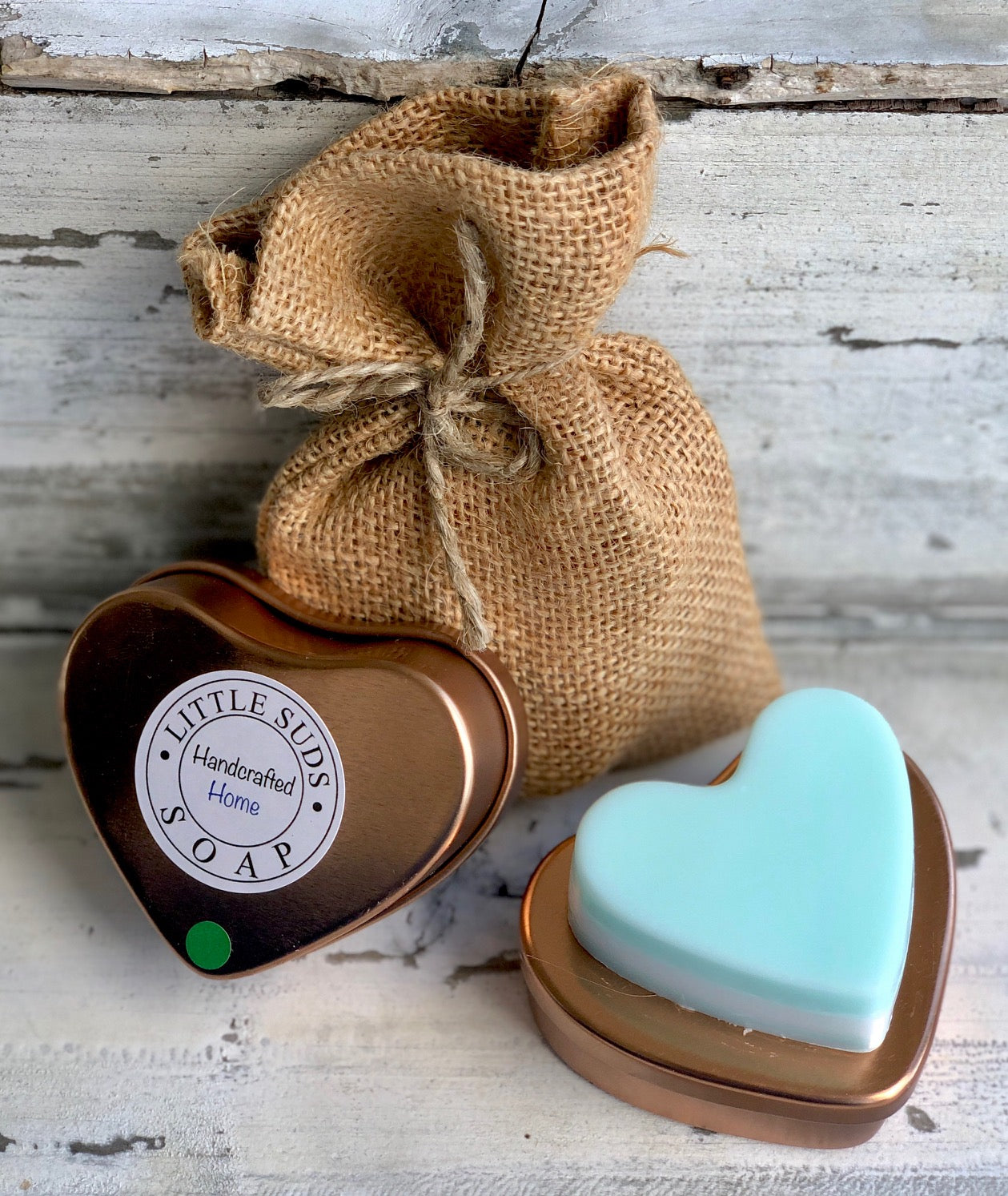 It's Mint! Big Heart Soap