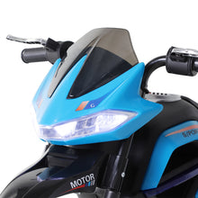 Load image into Gallery viewer, HOMCOM Ride On Kids Electric Motorbike Scooter 6V Battery Powered w/ Brake Lights and Music Blue
