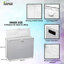 Load image into Gallery viewer, Toilet Roll Holder Free Standing Bathroom Multipurpose Storage Unit Polypropylene Woven on Metal Frame, Ideal Addition to Bathroom or Toilets by Arpan