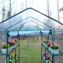 Load image into Gallery viewer, Outsunny Steel Frame Greenhouse Steel Frame, 2 Shelves