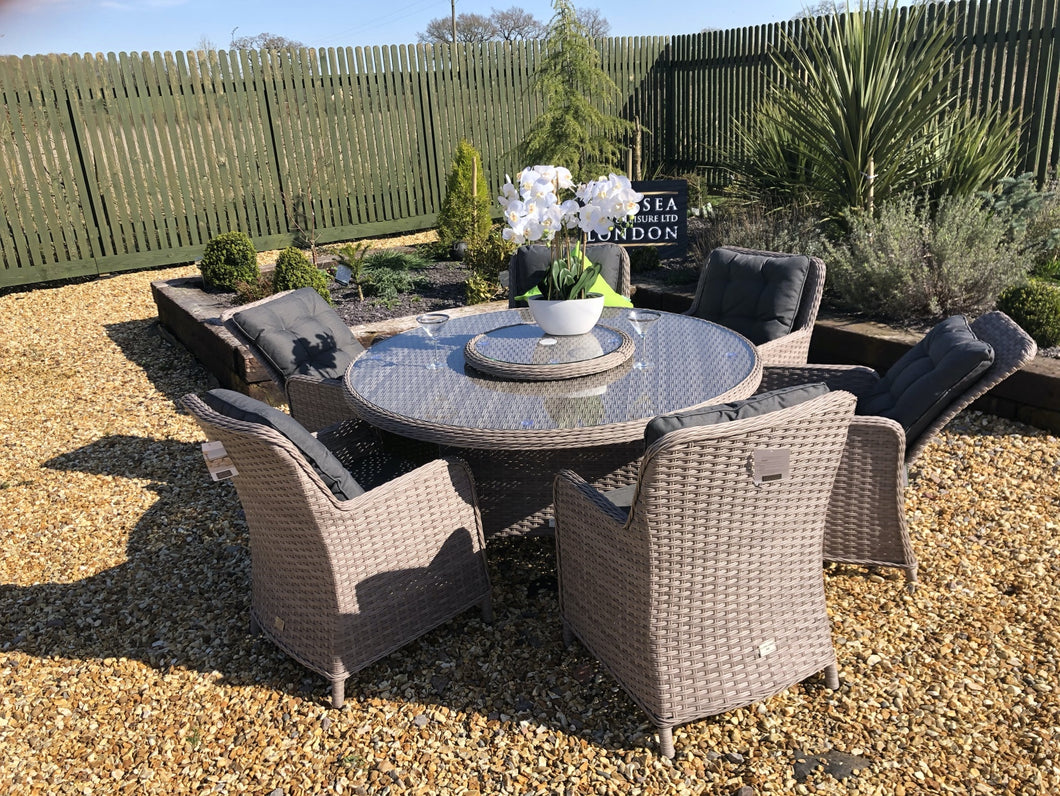Rattan Garden Furniture Round Dining Set Luxury Premium Garden Furniture Set