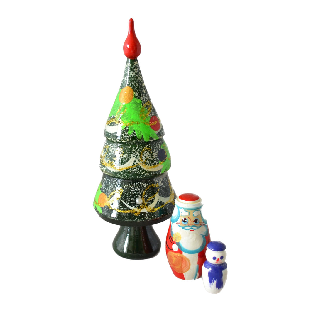 3 Piece Christmas Tree Matryoshka