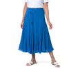 East Cheesecloth Cotton Crinkle Skirt with Elasticated Waist