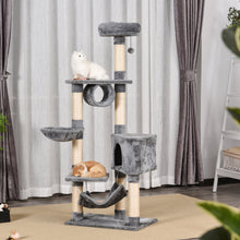 Load image into Gallery viewer, PawHut Cat Tree Condo Tower Multi-level Height 150CM Kittens Activity Stand House with Toys & Various Scratching Posts