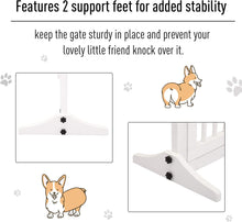 Load image into Gallery viewer, PawHut Adjustable Wooden Pet Gate Freestanding Dog Barrier Fence Doorway 3 Panels Safety Gate w/Lockable Door White 71H x 113-166W cm