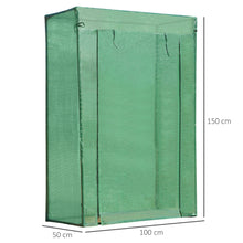 Load image into Gallery viewer, Outsunny Greenhouse Steel Frame PE Cover with Roll-up Door Outdoor for Backyard, Balcony, Garden, Green 100x50x150cm