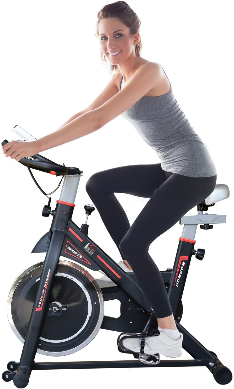 HOMCOM 8kg Flywheel Exercise Bike