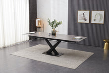 Load image into Gallery viewer, grey ceramic dining table
