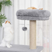 Load image into Gallery viewer, PawHut 96cm Cat Tree Condo Sisal Scratching Post Cat Tower Kitten Play House Dangling Ball Activity Center Furniture Grey