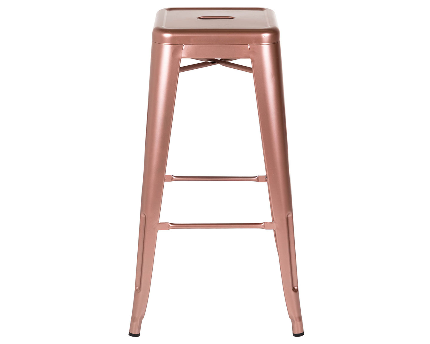 Bar Stool in Shiny Rose Gold