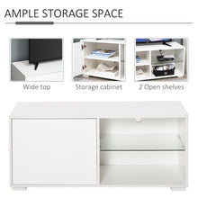 Load image into Gallery viewer, HOMCOM Modern TV Stand Media Unit w/ High Gloss Door Cabinet 2 Shelves Living Room Office Home Furniture White