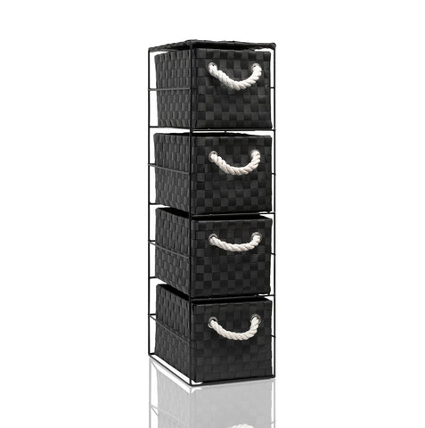 Arpan  4 Drawer Storage Cabinet Unit Ideal for Home/Office/bedrooms (4-Drawer Unit -18x25xH65cm)