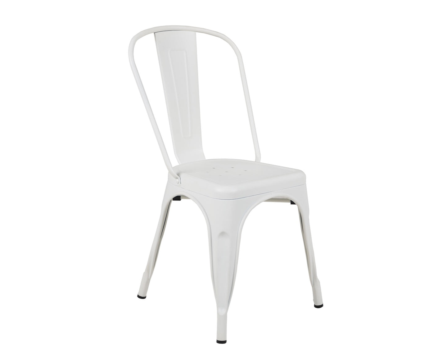 Tolix Style Chair in White Matte