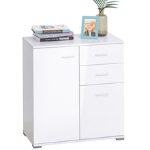 Load image into Gallery viewer, HOMCOM High Gloss Side Cabinet, size 71x35x76 cm-White
