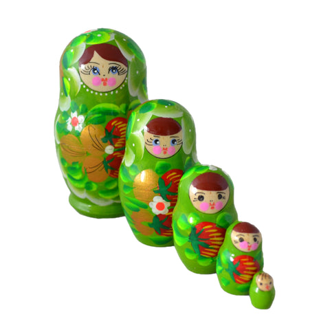5 Piece Small Matryoshka Dolls