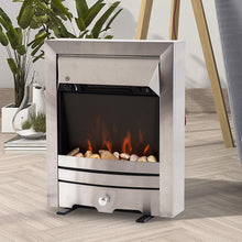 Load image into Gallery viewer, HOMCOM 2KW Stainless Steel Electric Fireplace